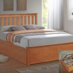 Asc 4ft Sienna Small Double Oak Ottoman Bed Frame