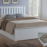 Asc 4ft Sienna Small Double White Ottoman Bed Frame