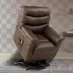 Birlea Regency Brown Faux Leather Rise And Recliner Armchair