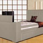 Sweet Dreams Image Sparkle Double Fabric Tv Divan Bed Frame