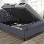Birlea Castello Double Charcoal Fabric Ottoman Bed Frame
