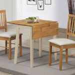Lpd Lille 75cm Cream And Oak Dining Table And 2 Chairs Set