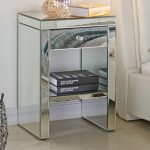 Tgc Assembled Napoli Mirrored 1 Drawer Small Bedside Cabinet