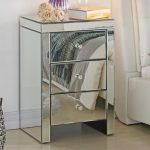 Tgc Assembled Napoli Mirrored 3 Drawer Bedside Cabinet