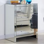 Tgc Assembled Napoli Mirrored 4 Drawer Chest Of Drawers