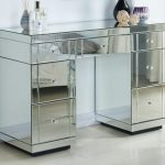 Tgc Part Assembled Napoli Mirrored Double Pedestal Dressing Table