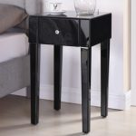 Tgc Assembled Napoli Black Mirrored Bedside Cabinet