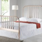 Sareer Georgia Double Rose Gold Metal Bed Frame (high Footend)