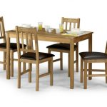 Julian Bowen Coxmoor 118cm American White Oak Dining Table And 4 Chair