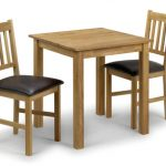 Julian Bowen Coxmoor 75cm American White Oak Dining Table And 2 Chairs