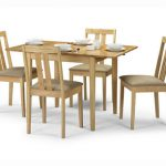 Julian Bowen Rufford 80cm Hardwood Extending Dining Table And 4 Chairs