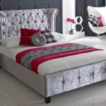 Limelight Epsilon Super King Size Ice Crushed Velvet Fabric Bed Frame