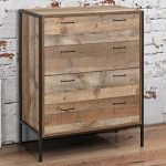 Birlea Flat Packed Urban Rustic 4 Drawer Chest Of Drawers