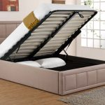 Sweet Dreams Sia King Size Dark Tan Fabric Ottoman Bed Frame