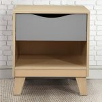 Birlea Flat Packed Kingston Beech And Grey 1 Drawer Small Bedside Cabi