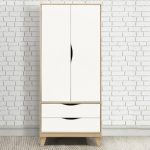 Birlea Flat Packed Kingston Beech And White 2 Door 2 Drawer Double War