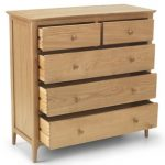 Archers Assembled Windermere Oak 2 Over 3 Chest Of Drawers
