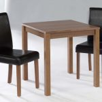 Lpd Brompton 75cm American Walnut Small Square Dining Table And 2 Blac