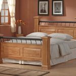 Ideal Furniture Rolo Double Oak Bed Frame