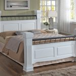 Ideal Furniture Rolo Double White Wooden Bed Frame