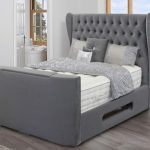 Asc Farah Double Fabric Tv Bed Frame