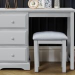 Birlea Assembled Suffolk Dove Grey Single Pedestal Dressing Table