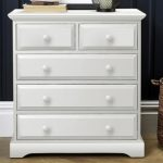 Birlea Assembled Suffolk White 3+2 Drawer Chest Of Drawers