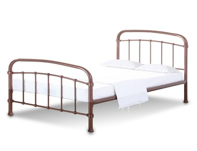 dceb6094e73a Lpd Halston Double Copper Metal Bed Frame | Bed and Mattress Centre ...