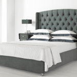 Hyder Buckingham King Size Charcoal Fabric Ottoman Bed Frame