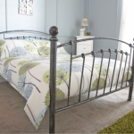 Gfw Brompton Double Pewter Metal Bed Frame