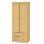 Welcome Assembled 2ft 6 Pembroke Beech 2 Door 2 Drawer Double Wardrobe