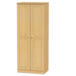 Welcome Assembled 2ft 6 Pembroke Beech 2 Door Double Wardrobe
