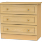 Welcome Assembled Pembroke Beech 3 Drawer Low Chest Of Drawers