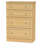 Welcome Assembled Pembroke Beech 4 Drawer Deep Chest Of Drawers