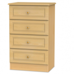 Welcome Assembled Pembroke Beech 4 Drawer Midi Chest Of Drawers