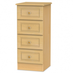 Welcome Assembled Pembroke Beech 4 Drawer Narrow Chest Of Drawers