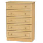 Welcome Assembled Pembroke Beech 5 Drawer Chest Of Drawers