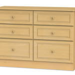 Welcome Assembled Pembroke Beech 6 Drawer Midi Chest Of Drawers