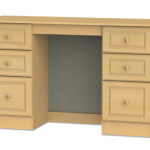 Welcome Assembled Pembroke Beech Double Pedestal Dressing Table