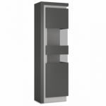 Furniture To Go Flat Packed Lyon Platinum Gloss And Grey Gloss Tall Di