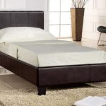 Seconique Prado Single Brown Faux Leather Bed Frame