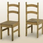 Seconique Budget Mexican Set Of 2 Pine Dining Chairs