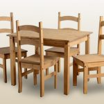 Seconique Budget Mexican 100cm Pine Dining Table And 4 Chairs Set