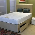 Deluxe Memory Elite Pocket 1000 King Size Mattress With Faux Suede Div