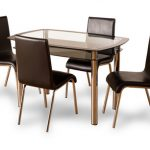 Seconique Harlequin 120cm Glass Dining Table And 4 Chairs Set