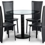 Seconique Cameo 100cm Glass Round Dining Table And 4 Chairs Set