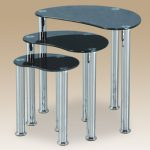 Seconique Flat Packed Cara Black Glass Nest Of Tables