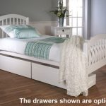 Limelight Despina Long Euro (ikea) Size Single White Wooden Bed Frame