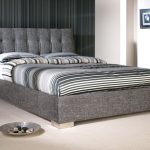Limelight Ophelia Double Slate Waffle Fabric Bed Frame