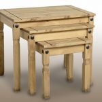 Seconique Flat Packed Corona Pine Nest Of Tables